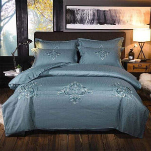 Her Shop Bedding 15 / Queen 4pcs Europe luxury Embroidery Bedding Sets 100% Egypt Cotton Bedclothes Duvet/Quilt Cover Bed Linen Sheet wedding Set Queen King Size
