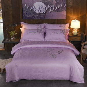 Her Shop Bedding 13 / Queen 4pcs Europe luxury Embroidery Bedding Sets 100% Egypt Cotton Bedclothes Duvet/Quilt Cover Bed Linen Sheet wedding Set Queen King Size