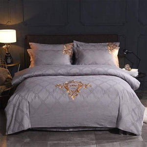 Her Shop Bedding 7 / Queen 4pcs Europe luxury Embroidery Bedding Sets 100% Egypt Cotton Bedclothes Duvet/Quilt Cover Bed Linen Sheet wedding Set Queen King Size