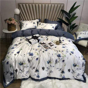 Her Shop Bedding 2 / King size 4pcs Green Leaves Bedding Sets Queen King Size
