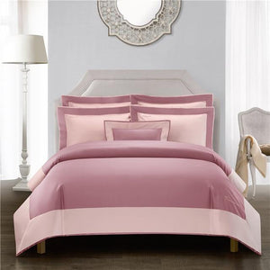 Her Shop Bedding 4 / Queen size 4pcs Luxury Hotel Linen Bedding Set 1200TC Egyptian Cotton Duvet Cover Bed Sheet Set Pillowcases