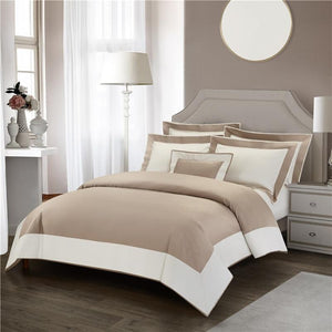 Her Shop Bedding Luxury Hotel Linen Bedding Set 1200TC Egyptian Cotton Duvet Cover Bed Sheet Set Pillowcases