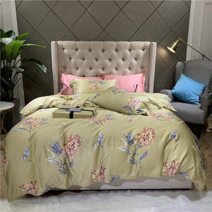 Her Shop Bedding 1 / Queen size 4pcs New Soft Egyptian Cotton Luxury Bedding Set