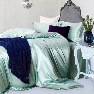 Her Shop Bedding 11 / Queen 2x2.3m sets Satin 100% Pure Mulberry Silk Bedding Sets Duvet Cover
