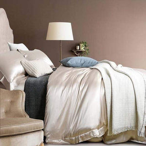 Her Shop Bedding 10 / Queen 2x2.3m sets Satin 100% Pure Mulberry Silk Bedding Sets Duvet Cover