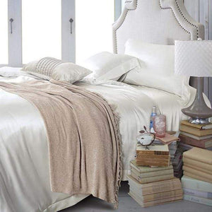 Her Shop Bedding 15 / Queen 2x2.3m sets Satin 100% Pure Mulberry Silk Bedding Sets Duvet Cover
