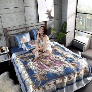 Her Shop Bedding 05 / Queen 2x2.3m sets Satin 100% Pure Mulberry Silk Bedding Sets Duvet Cover