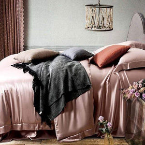 Her Shop Bedding 14 / Queen 2x2.3m sets Satin 100% Pure Mulberry Silk Bedding Sets Duvet Cover