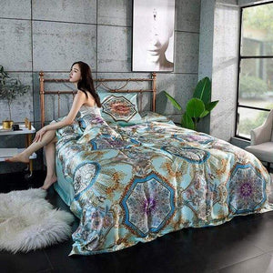 Her Shop Bedding 02 / Queen 2x2.3m sets Satin 100% Pure Mulberry Silk Bedding Sets Duvet Cover