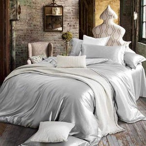 Her Shop Bedding 09 / Queen 2x2.3m sets Satin 100% Pure Mulberry Silk Bedding Sets Duvet Cover