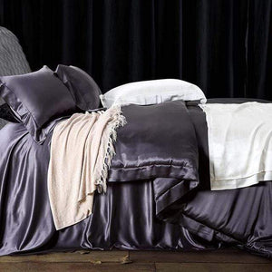 Her Shop Bedding 07 / Queen 2x2.3m sets Satin 100% Pure Mulberry Silk Bedding Sets Duvet Cover