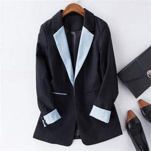 Her Shop Blazers 1 / S Cotton Linen Single Button Casual Blazer Suit
