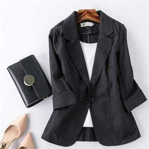 Her Shop Blazers 2 / S Ladies Candy-Color Linen Blazer