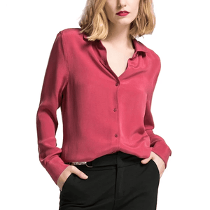 Her Shop Blouse Heavy 100% REAL SILK CREPE Blouses