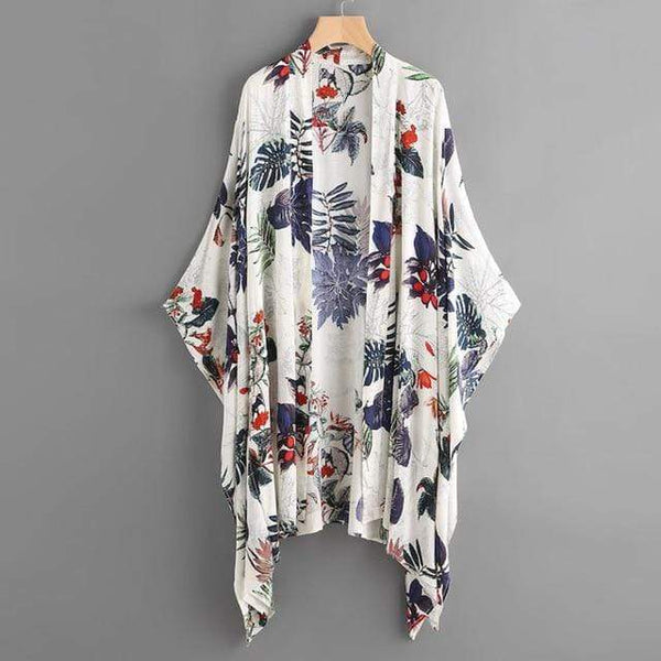 Her Shop Blouses & Shirts Blue / S Floral Printed Blouse Summer Cardigan