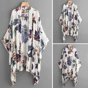 Her Shop Blouses & Shirts Floral Printed Blouse Summer Cardigan