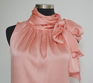Her Shop Blouses & Shirts Sleeveless Bow Knot Chiffon Blouse