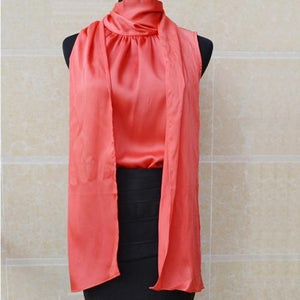 Her Shop Blouses & Shirts RED / XS Sleeveless Bow Knot Chiffon Blouse