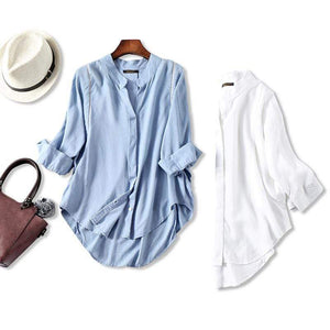 Her Shop Blouses & Shirts Women Fall Blouse 3/4 Sleeves