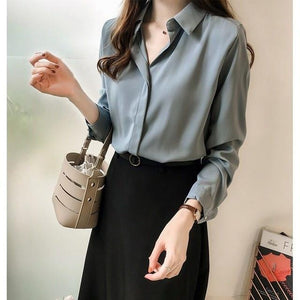 Her Shop Blouses & Shirts blue / XXXL Women Fashion Blouses