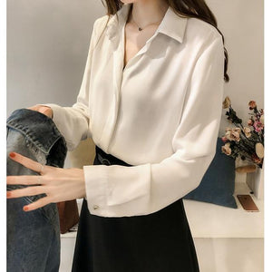 Her Shop Blouses & Shirts white / M Women Fashion Blouses