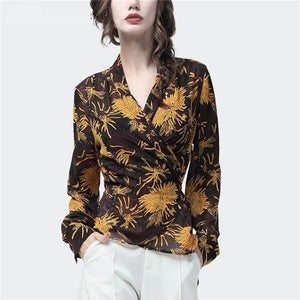 Her Shop Blouses & Shirts Yellow / 4XL Women's Elegant Chiffon Blouse