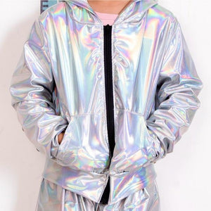Her Shop bomber picture color / 3XS Fluorescence bomber Jacket / Stage Performance Wear