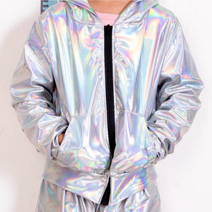 Her Shop bomber Fluorescence bomber Jacket / Stage Performance Wear