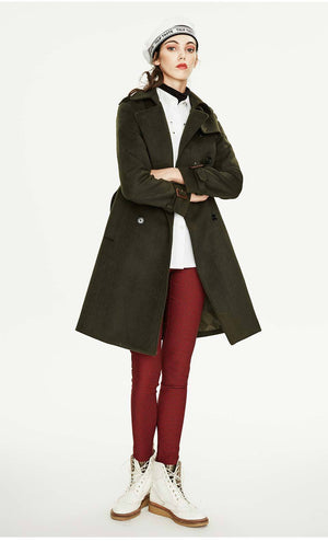 Her Shop coat High Quality Double Breasted Slim Style Trench Coat