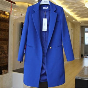 Her Shop coat Royal blue / S Windbreaker Coat