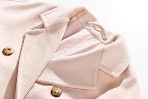 Her Shop Coats, Jackets & Blazers 100% Wool Elegant Double Breasted Belted Warm Wool Coat