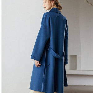 Her Shop Coats, Jackets & Blazers Autumn Winter Water Ripple Wool Coat