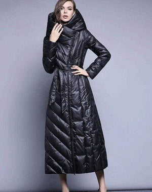 Her Shop Coats, Jackets & Blazers black / S Brand Hooded Long XS-7XL Plus size 90% Duck Down Coat