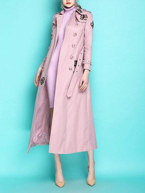 Her Shop Coats, Jackets & Blazers England Style Autumn Spring Trench Coat