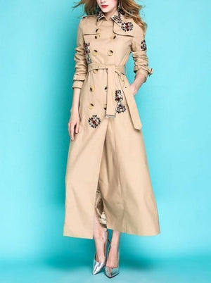 Her Shop Coats, Jackets & Blazers khaki / S England Style Autumn Spring Trench Coat
