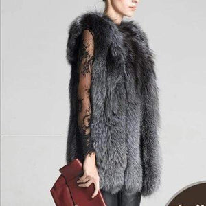 Her Shop Coats, Jackets & Blazers M European Celebrities Style High Fashion 100/100 Natural Fox Fur Vest