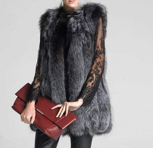 Her Shop Coats, Jackets & Blazers European Celebrities Style High Fashion 100/100 Natural Fox Fur Vest