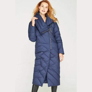 Her Shop Coats, Jackets & Blazers High-end Brand 2019 Women's Winter Down Coat, X-Long, Asymmetric, Plus Size