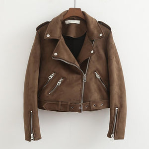 Her Shop Coats, Jackets & Blazers Brown / S New Autumn Faux Leather Jacket