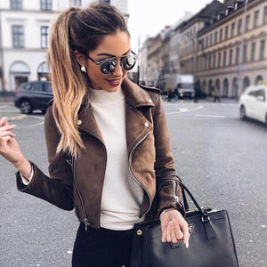 Her Shop Coats, Jackets & Blazers New Autumn Faux Leather Jacket