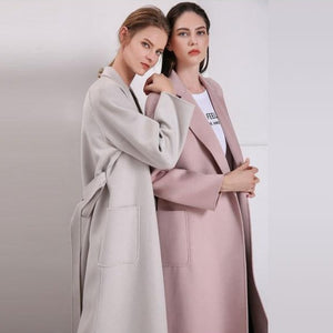 Her Shop Coats, Jackets & Blazers Water Ripple Double-Sided Cashmere Coat