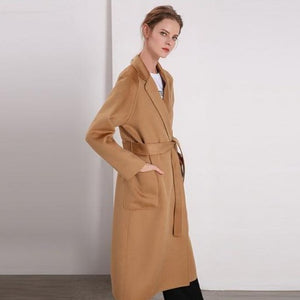 Her Shop Coats, Jackets & Blazers color same picture 4 / L Water Ripple Double-Sided Cashmere Coat