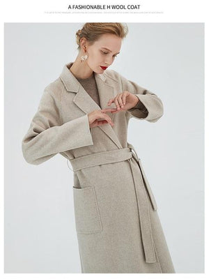 Her Shop Coats, Jackets & Blazers color same picture 2 / S Water Ripple Double-Sided Cashmere Coat
