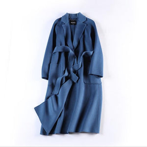 Her Shop Coats, Jackets & Blazers color same picture / S Water Ripple Double-Sided Cashmere Coat