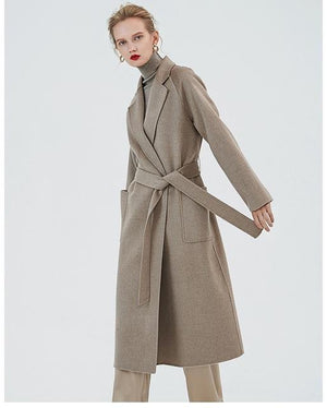 Her Shop Coats, Jackets & Blazers color same picture 2 / XL Water Ripple Double-Sided Cashmere Coat