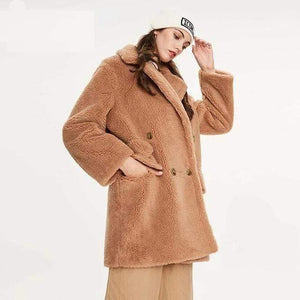 Her Shop Coats, Jackets & Blazers camel colorDKL02 / S / China Winter New Arrival High Quality Mid-Length Fur Coat