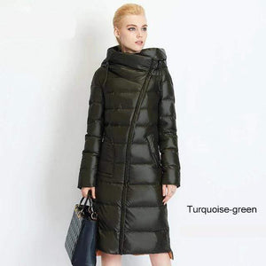Her Shop Coats, Jackets & Blazers 710 turquoise green / S / China Women's High Quality Hooded Warm Fashionable Parkas