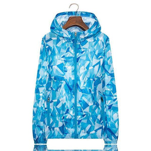 Her Shop Coats Blue / M Women Men Spring Summer Unisex  Windbreaker / Sunscreen / Rainproof Jackets