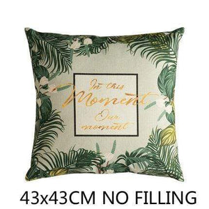 Her Shop Cushion Cover D Decorative Pillow Case Vintage Jungle Animal
