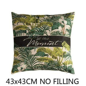 Her Shop Cushion Cover B Decorative Pillow Case Vintage Jungle Animal